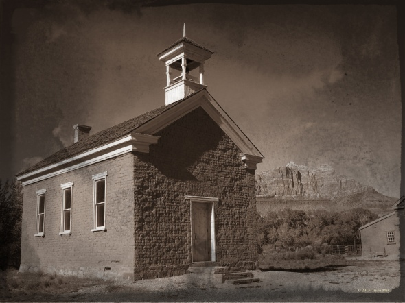 The church in the ghost town of Grafton