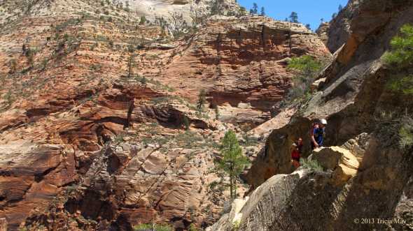 Chain assist on the Hidden Canyon trail