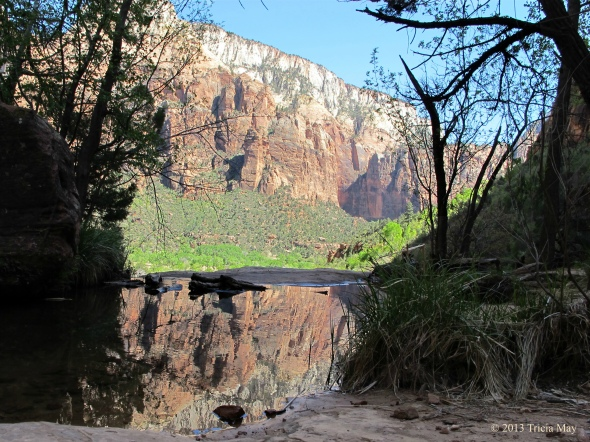 Reflections in the second of the Emerald Pools