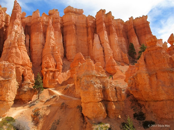 Spot the hiker amongst the towering hoodoos