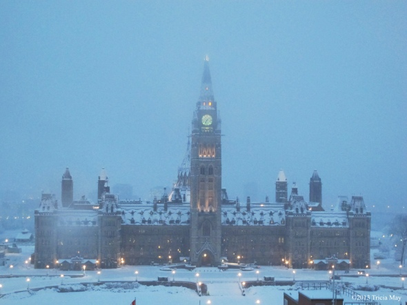 Parliament Hill on a snowy morning