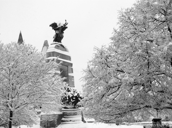 The Cenotaph after a snowfall