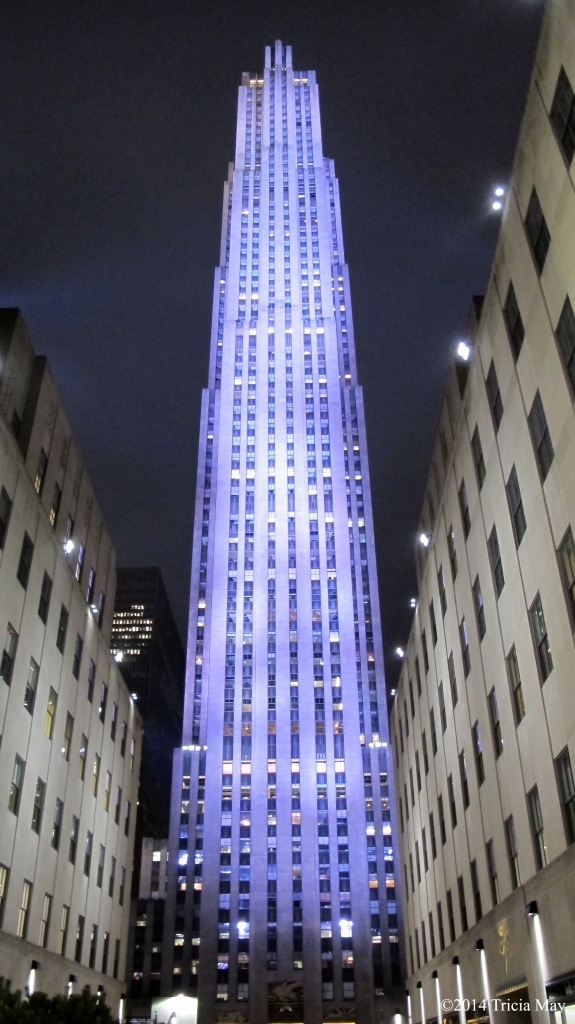 Rockefeller Center at night