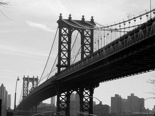 Brooklyn Bridge from a bus tour