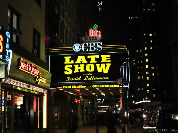 Late Night with David Letterman sign