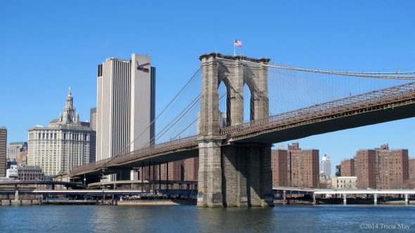 Brooklyn Bridge across the Hudson