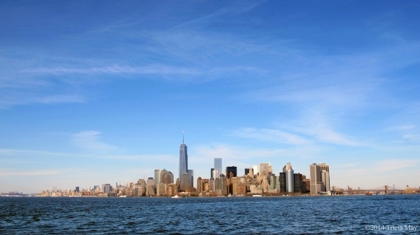New York skyline from water taxi