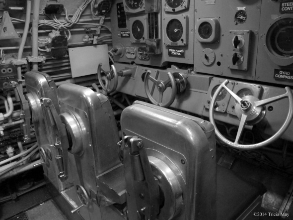Control room of the USS Growler