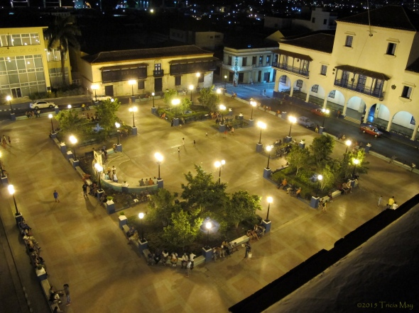 Parque Cespedes as seen from the rooftop patio of the Casa Granda hotel - Santiago de Cuba ©