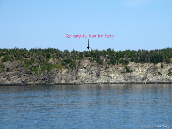 Our campsite from the ferry ©