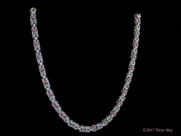 Byzantine-silver and pink-thick ©