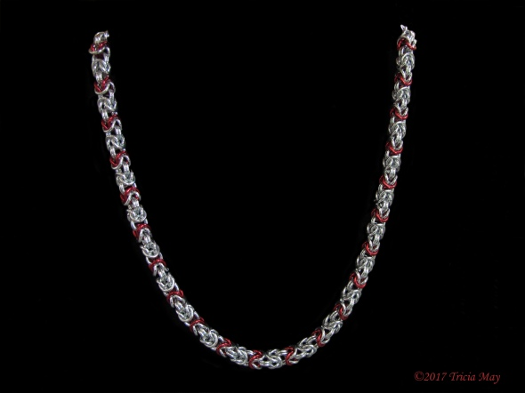Byzantine-silver and red-thick ©
