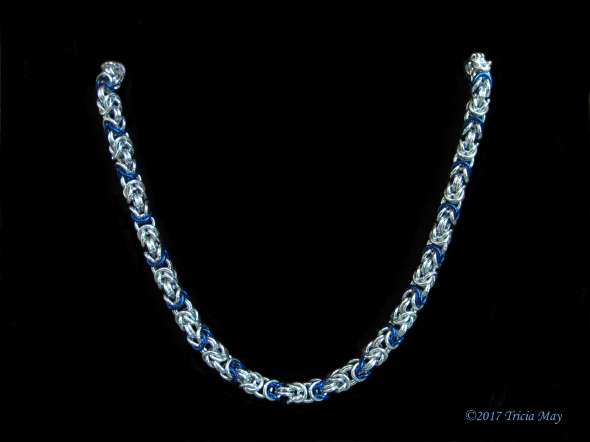 Byzantine-silver and royal blue-thick ©