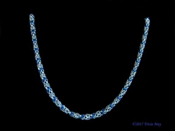 Byzantine - thin-silver, blue ©
