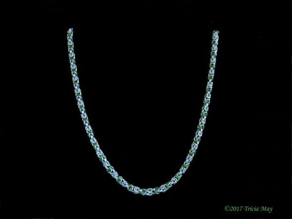 Byzantine - thin-silver, green ©