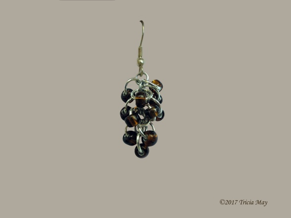Earrings - Beads-clear brown ©