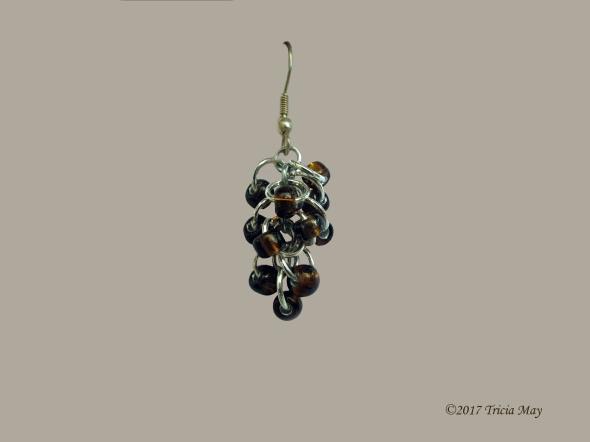 Earrings - Beads-clear brown ©