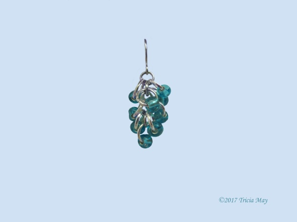 Earrings - Beads-light blue-clear ©