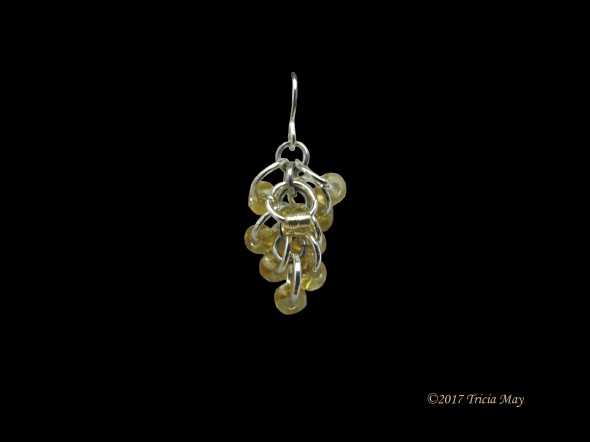 Earrings - Beads-yellow-clear ©