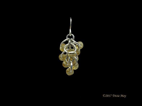 Earrings - Beads-yellow-clear ©