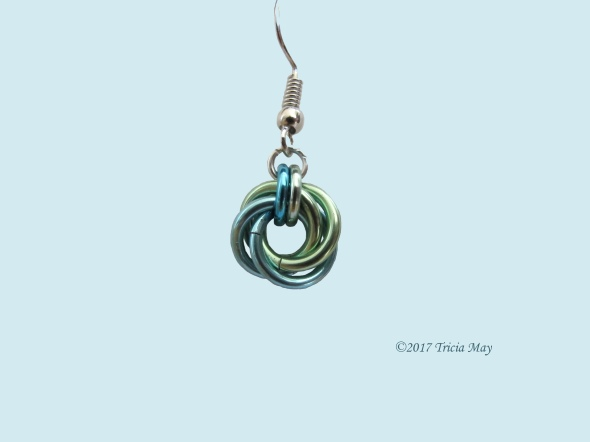 Earrings - Mobius-Green and blue ©