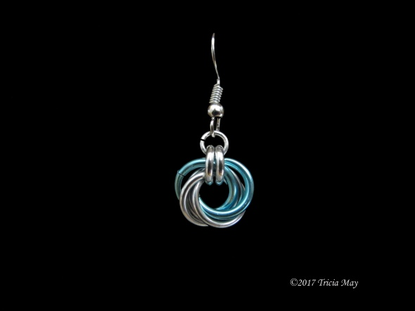 Earrings - Mobius-Silver and light blue ©