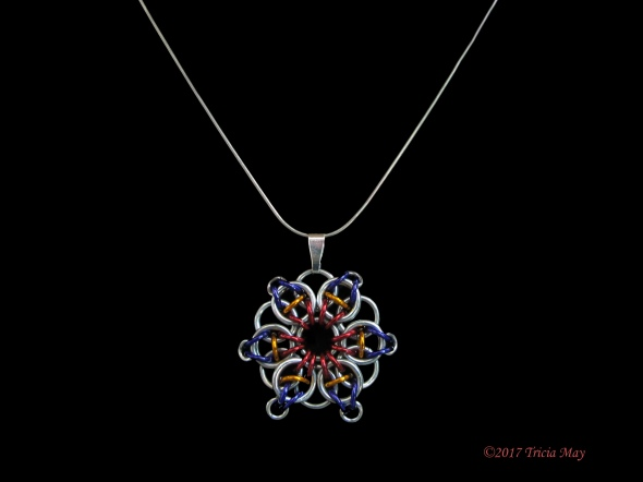 Pendant-Red, orange, dark purple ©