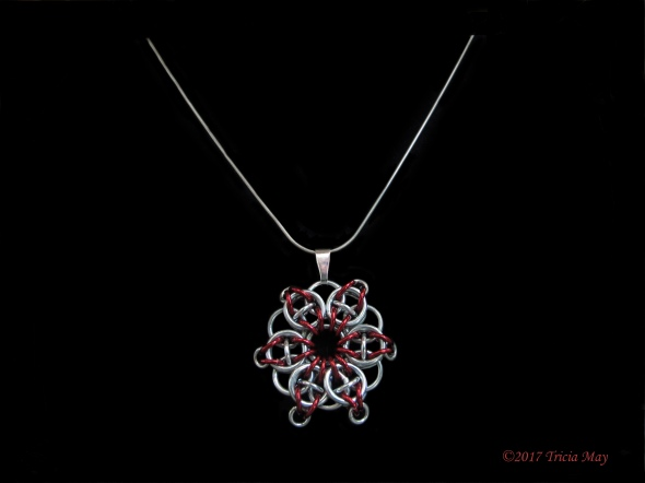 Pendant-Red, silver, red ©